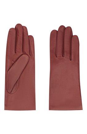 Женские кожаные перчатки AGNELLE бордового цвета, арт. INES/A | Фото 2
