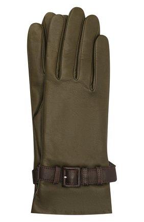 Женские кожаные перчатки AGNELLE хаки цвета, арт. MILA/A | Фото 1