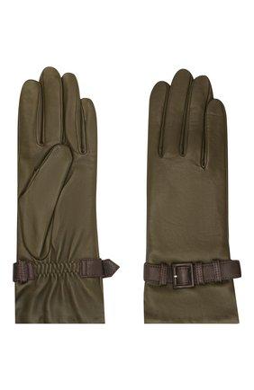 Женские кожаные перчатки AGNELLE хаки цвета, арт. MILA/A | Фото 2
