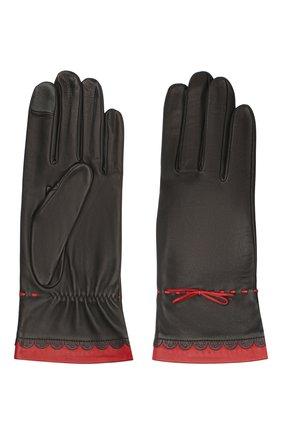 Женские кожаные перчатки AGNELLE черного цвета, арт. R0SAM0NDE/S | Фото 2