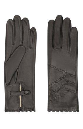 Женские кожаные перчатки AGNELLE темно-серого цвета, арт. ZENIA/S | Фото 2