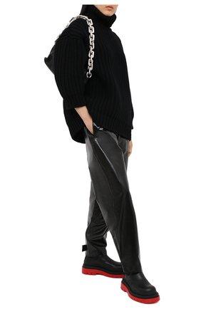 Женская свитер из шерсти и кашемира DOLCE & GABBANA черного цвета, арт. FXA37T/JBMD9 | Фото 2