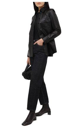 Женская хлопковый лонгслив JIL SANDER черного цвета, арт. JPPR705500-WR257108 | Фото 2