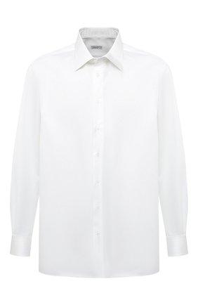 Мужская хлопковая сорочка ZILLI белого цвета, арт. MFU-10715-0299/0005/45-49 | Фото 1