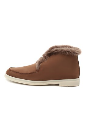 Мужские замшевые ботинки walk and walk LORO PIANA светло-коричневого цвета, арт. FAE5014 | Фото 3
