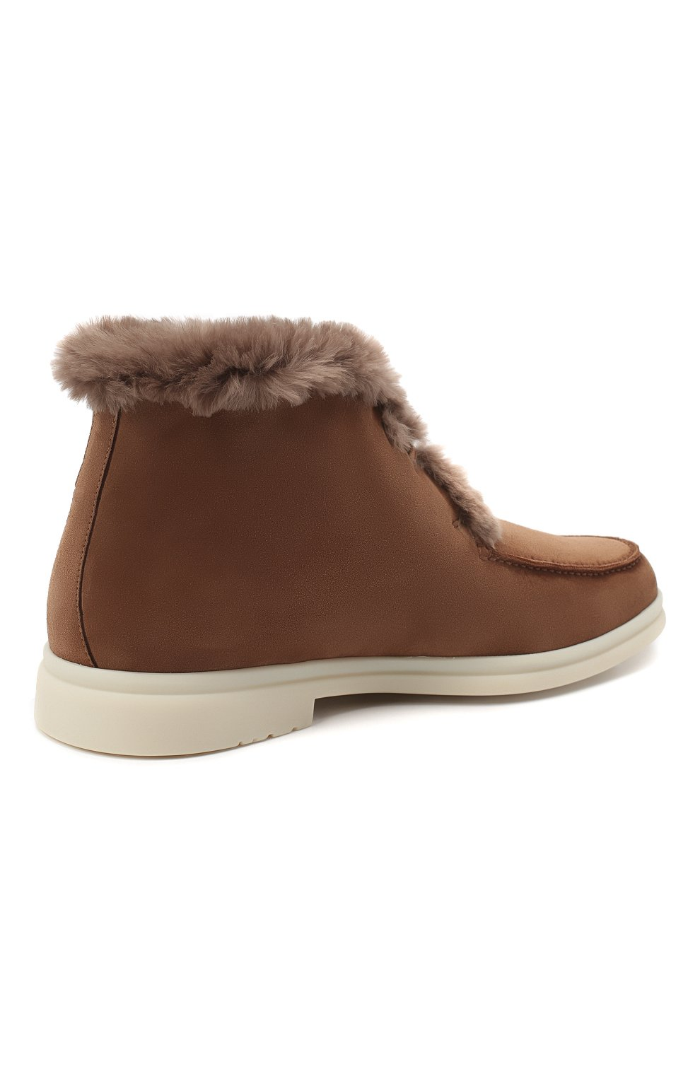 Мужские замшевые ботинки walk and walk LORO PIANA светло-коричневого цвета, арт. FAE5014 | Фото 4
