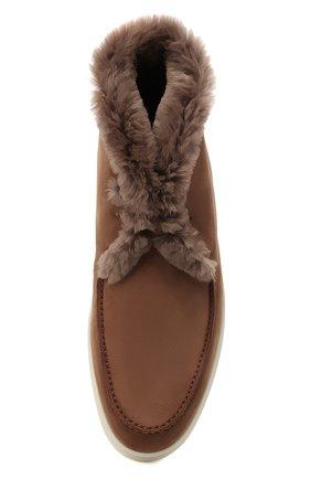 Мужские замшевые ботинки walk and walk LORO PIANA светло-коричневого цвета, арт. FAE5014 | Фото 5