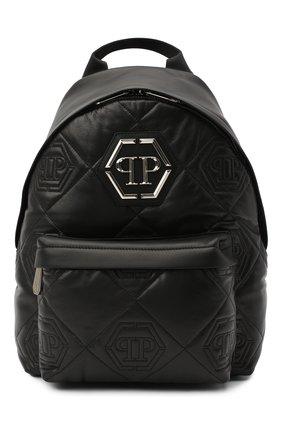 Мужской кожаный рюкзак PHILIPP PLEIN черного цвета, арт. A20A MBA0996 PLE075N | Фото 1