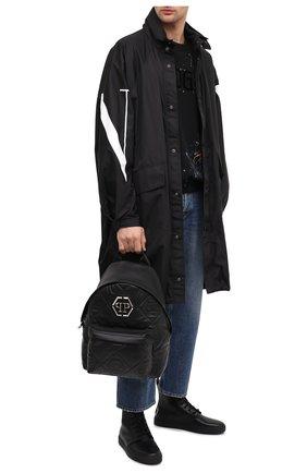 Мужской кожаный рюкзак PHILIPP PLEIN черного цвета, арт. A20A MBA0996 PLE075N | Фото 2