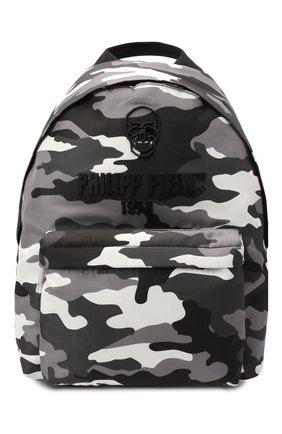 Мужской рюкзак PHILIPP PLEIN серого цвета, арт. A20A MBA1000 PLE111N | Фото 1