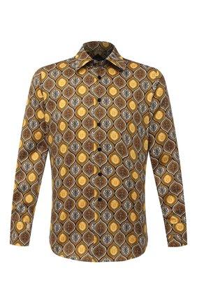 Мужская хлопковая рубашка BILLIONAIRE коричневого цвета, арт. O20C MRP1392 BTE002N | Фото 1