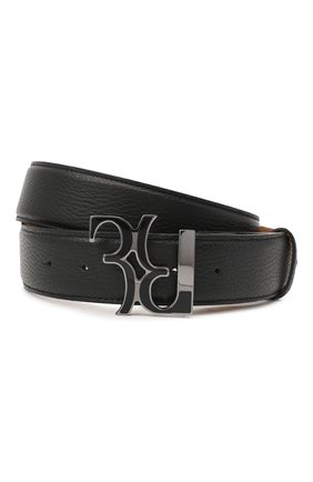 Мужской кожаный ремень BILLIONAIRE черного цвета, арт. O20A MVA0605 BLE078N | Фото 1