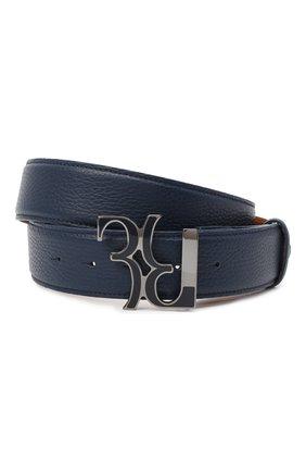 Мужской кожаный ремень BILLIONAIRE темно-синего цвета, арт. O20A MVA0605 BLE078N | Фото 1