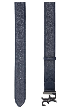 Мужской кожаный ремень BILLIONAIRE темно-синего цвета, арт. O20A MVA0605 BLE078N | Фото 2