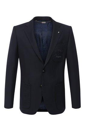 Мужской шерстяной пиджак BILLIONAIRE темно-синего цвета, арт. O20C MRF1290 BTE004N   Фото 1
