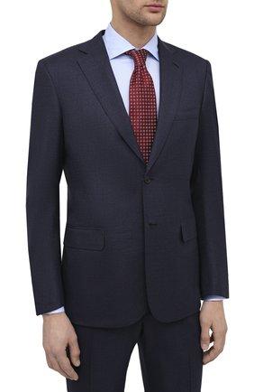 Мужской шерстяной костюм BRIONI темно-синего цвета, арт. RA0J0X/09A94/BRUNIC0 | Фото 2