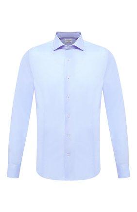 Мужская хлопковая сорочка BAGUTTA голубого цвета, арт. MIAMI_EL/03448 | Фото 1