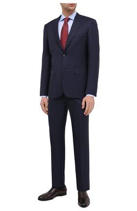 Мужская хлопковая сорочка BAGUTTA голубого цвета, арт. MIAMI_EL/03448 | Фото 2