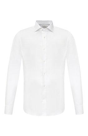 Мужская хлопковая сорочка BAGUTTA белого цвета, арт. MIAMI_EL/03448 | Фото 1