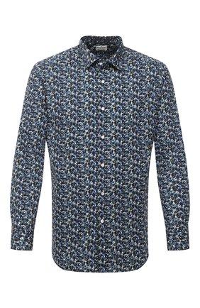 Мужская хлопковая рубашка BAGUTTA темно-синего цвета, арт. 380_EBL/10618 | Фото 1