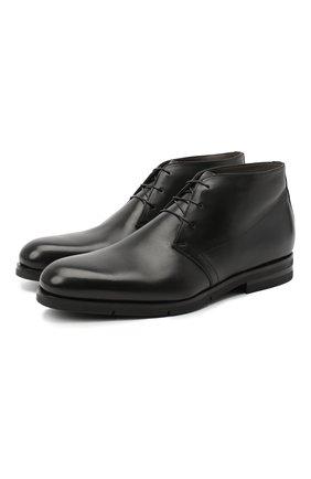 Мужские кожаные ботинки SANTONI черного цвета, арт. MCAZ16775SI5ASKTN01 | Фото 1