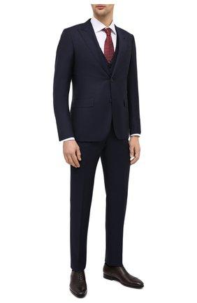 Мужской шерстяной костюм-тройка ERMENEGILDO ZEGNA темно-синего цвета, арт. 822510/327B25 | Фото 1