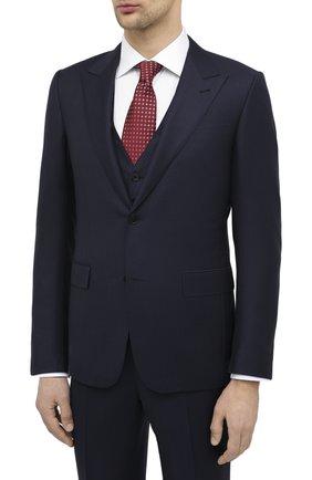 Мужской шерстяной костюм-тройка ERMENEGILDO ZEGNA темно-синего цвета, арт. 822510/327B25 | Фото 2
