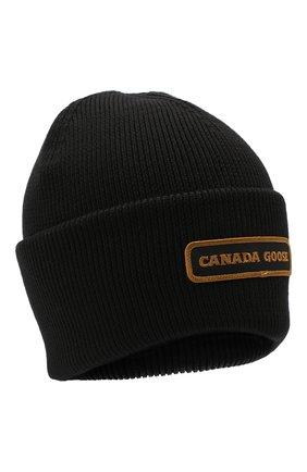 Мужская шерстяная шапка CANADA GOOSE черного цвета, арт. 5023M | Фото 1