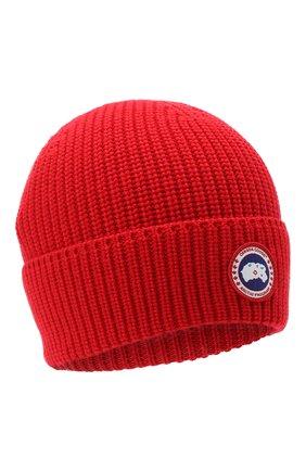 Мужская шерстяная шапка CANADA GOOSE красного цвета, арт. 5026M | Фото 1