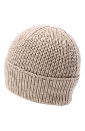Мужская шерстяная шапка CANADA GOOSE бежевого цвета, арт. 5026M | Фото 2