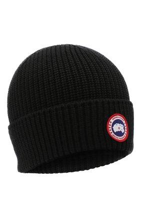 Мужская шерстяная шапка CANADA GOOSE черного цвета, арт. 5026M | Фото 1