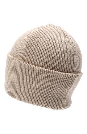 Мужская шерстяная шапка CANADA GOOSE бежевого цвета, арт. 6936M | Фото 2
