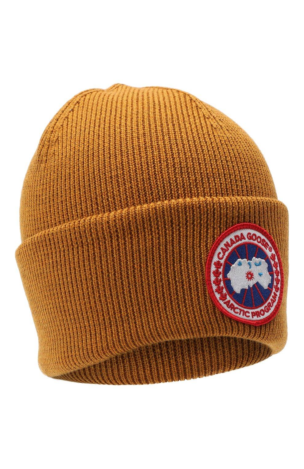 Мужская шерстяная шапка CANADA GOOSE светло-коричневого цвета, арт. 6936M   Фото 1