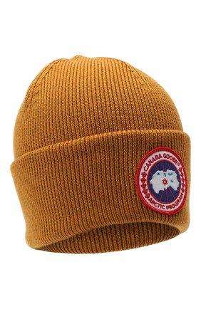 Мужская шерстяная шапка CANADA GOOSE светло-коричневого цвета, арт. 6936M | Фото 1