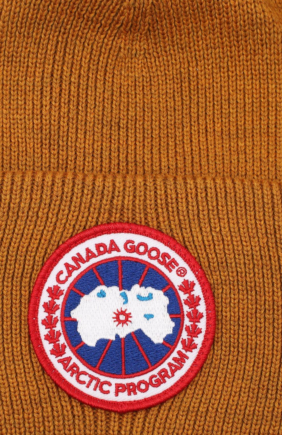 Мужская шерстяная шапка CANADA GOOSE светло-коричневого цвета, арт. 6936M   Фото 3