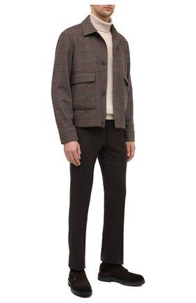 Мужские замшевые монки SANTONI коричневого цвета, арт. MGMI16232JK2ESEJT55 | Фото 2