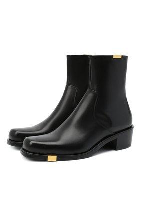 Мужские кожаные сапоги ROCHAS черного цвета, арт. R0SR35002A/RR890 | Фото 1