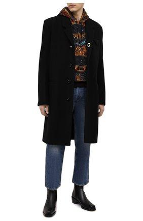 Мужские кожаные сапоги ROCHAS черного цвета, арт. R0SR35002A/RR890 | Фото 2