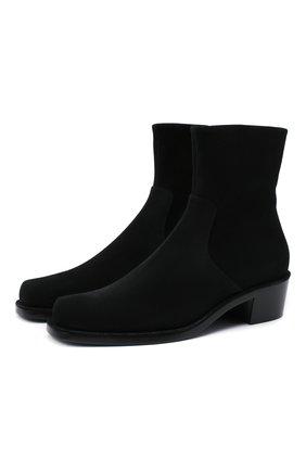 Мужские замшевые сапоги ROCHAS черного цвета, арт. R0SR35002A/RR891 | Фото 1