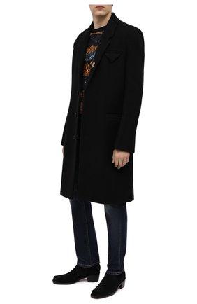 Мужские замшевые сапоги ROCHAS черного цвета, арт. R0SR35002A/RR891 | Фото 2