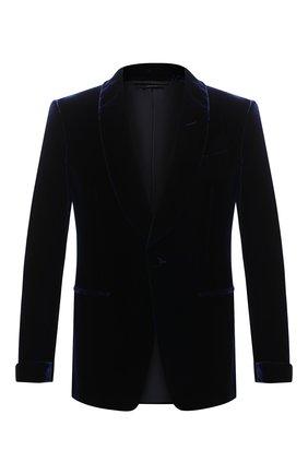 Мужской пиджак TOM FORD темно-синего цвета, арт. QVER40/11SV40 | Фото 1