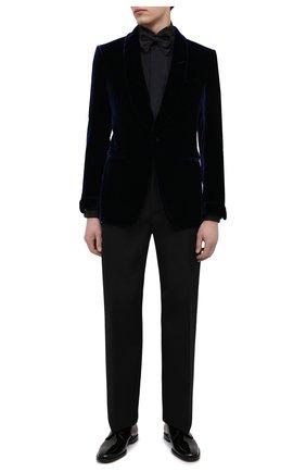 Мужской пиджак TOM FORD темно-синего цвета, арт. QVER40/11SV40 | Фото 2