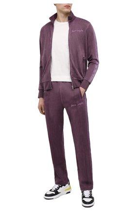 Мужская толстовка PALM ANGELS фиолетового цвета, арт. PMBD001F20FAB0033737 | Фото 2