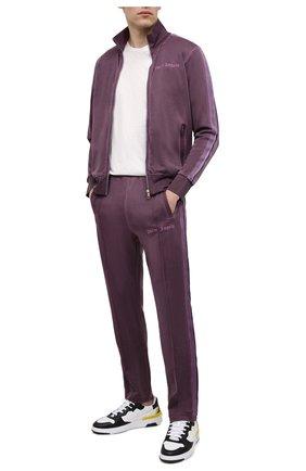 Мужской брюки PALM ANGELS фиолетового цвета, арт. PMCA084F20FAB0033737 | Фото 2