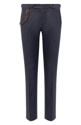 Мужские брюки из шерсти и хлопка BERWICH синего цвета, арт. SC/1 FIBB/GB1748 | Фото 1 (Длина (брюки, джинсы): Стандартные; Материал внешний: Шерсть; Материал подклада: Купро; Случай: Повседневный; Стили: Классический)