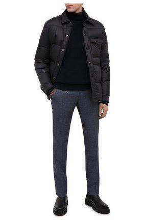 Мужские брюки из шерсти и хлопка BERWICH синего цвета, арт. SC/1 FIBB/GB1748 | Фото 2 (Длина (брюки, джинсы): Стандартные; Материал внешний: Шерсть; Материал подклада: Купро; Случай: Повседневный; Стили: Классический)