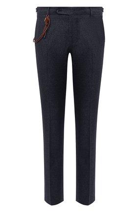Мужские брюки из шерсти и хлопка BERWICH темно-синего цвета, арт. SC/1 FIBB/GB1748   Фото 1 (Длина (брюки, джинсы): Стандартные; Материал внешний: Шерсть; Материал подклада: Купро; Случай: Повседневный; Стили: Классический)