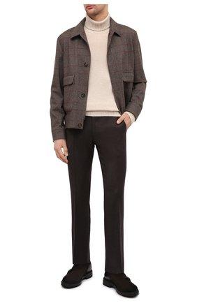 Мужские шерстяные брюки BERWICH темно-коричневого цвета, арт. SC/1/RD5470 | Фото 2