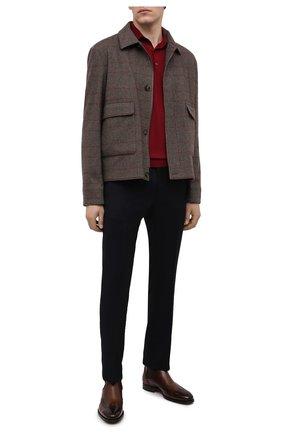 Мужские шерстяные брюки BERWICH темно-синего цвета, арт. SC/1/RD5470 | Фото 2