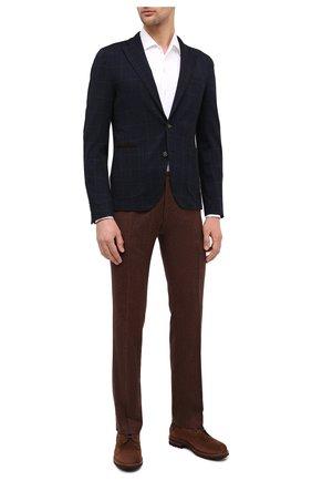 Мужские шерстяные брюки BERWICH коричневого цвета, арт. SC/1/RD5470 | Фото 2
